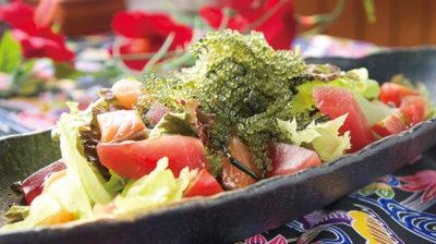 海鮮 海ぶどうサラダ